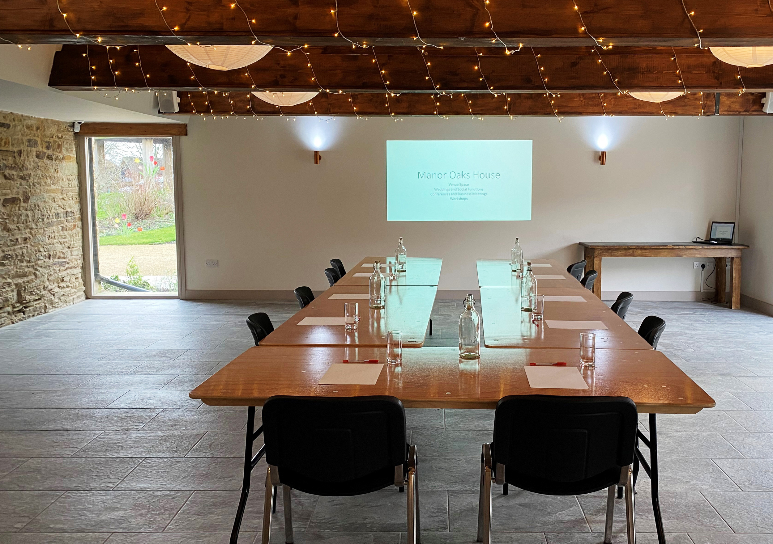 Manor Oaks House Boardroom set up