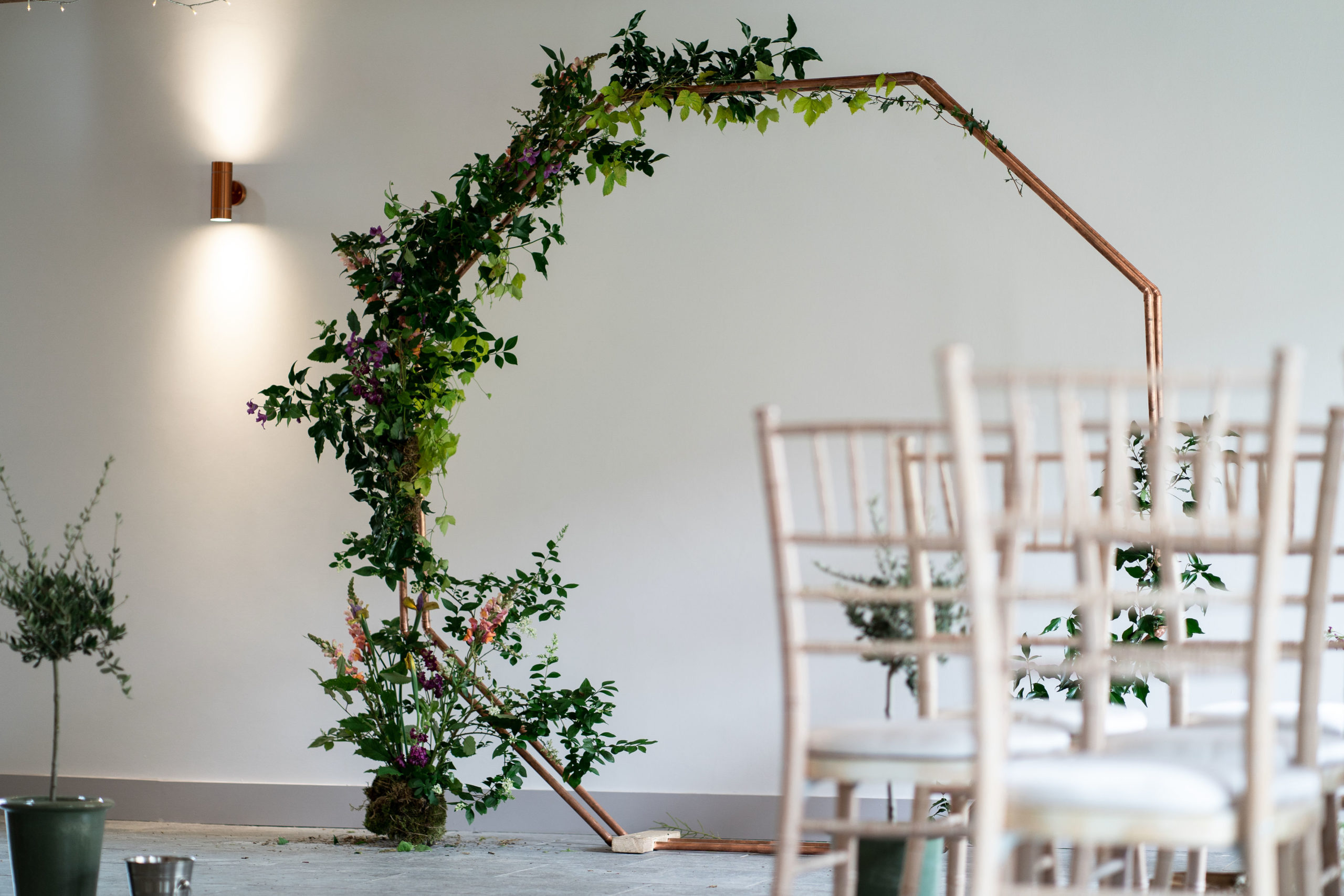Floral Wedding Arch by Meadows and Mulberry