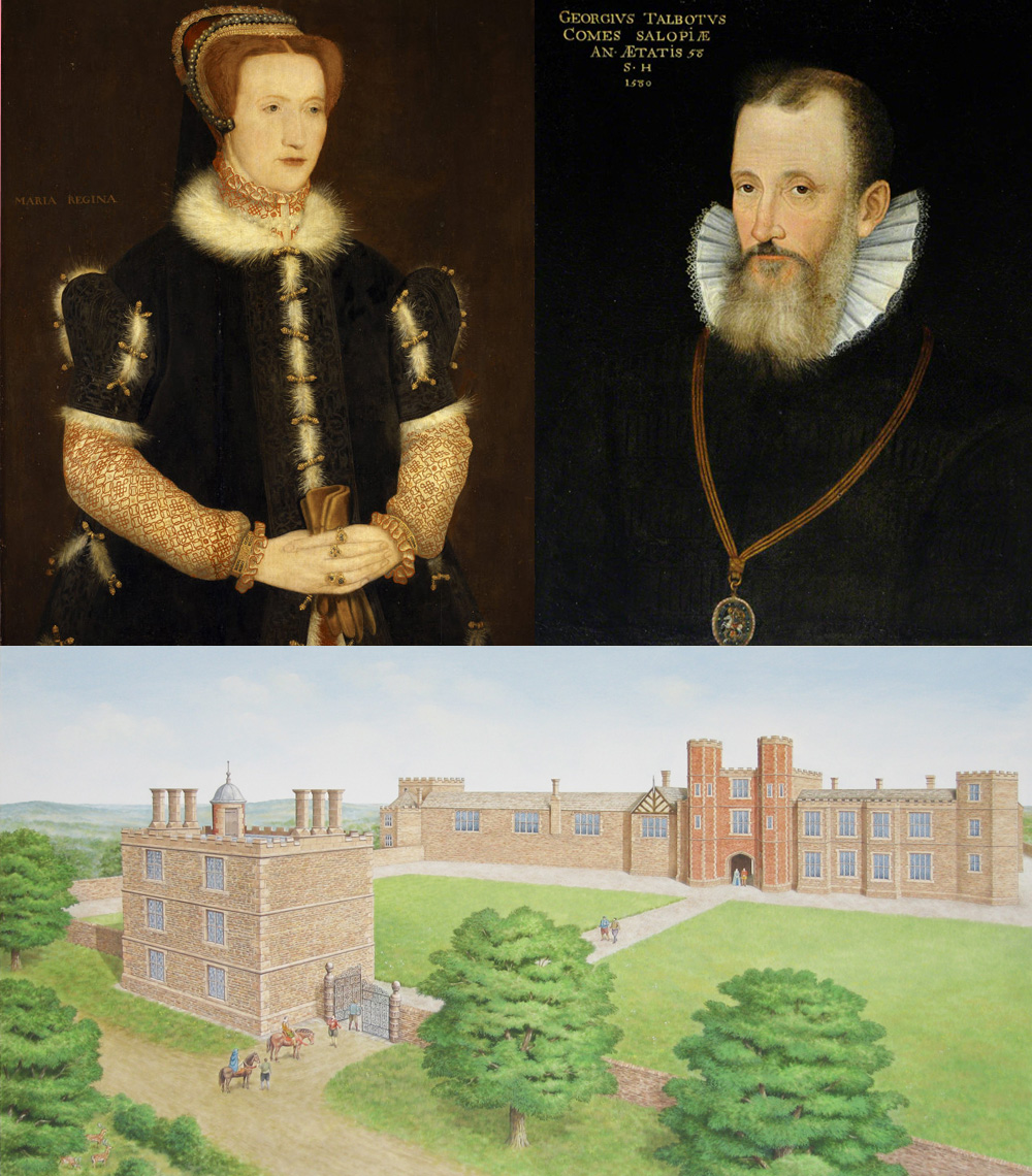 Bess of Hardwick and George Talbot at their Sheffield Manor Lodge Home
