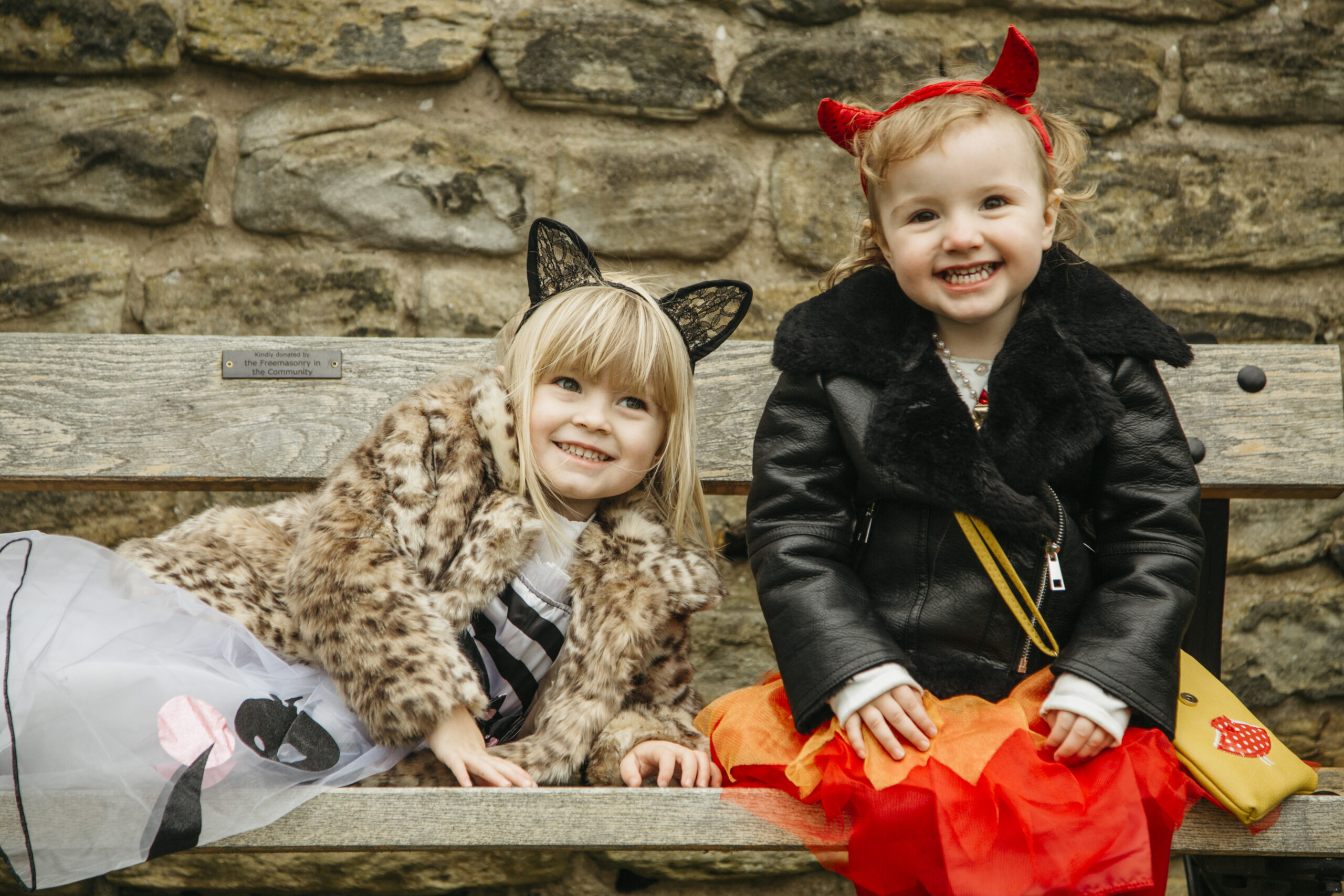Halloween Dressing up fun on the trick or treat childrens trail at Sheffield Manor Lodge